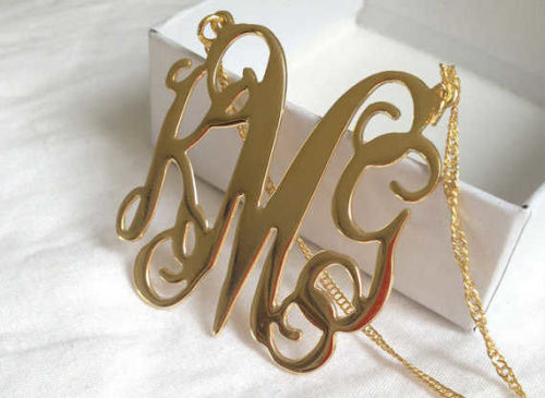 SembolGold - Altın İsimli Harf Kolye (1)