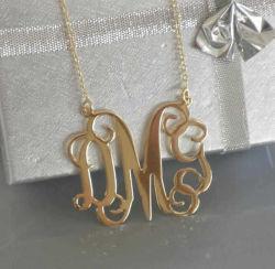 Altın İsimli Harf Kolye SG08-51 - Thumbnail