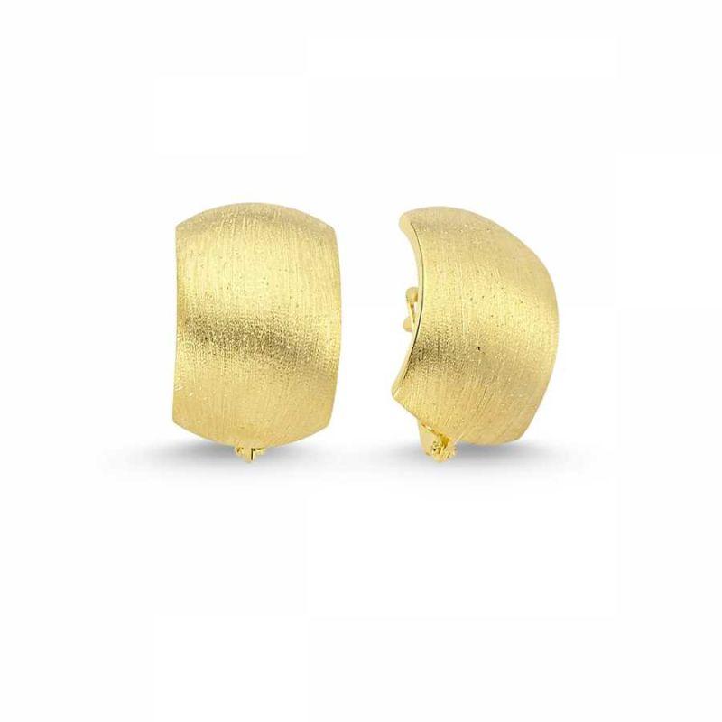 Altın J Küpe Taşsız Matsimli Model