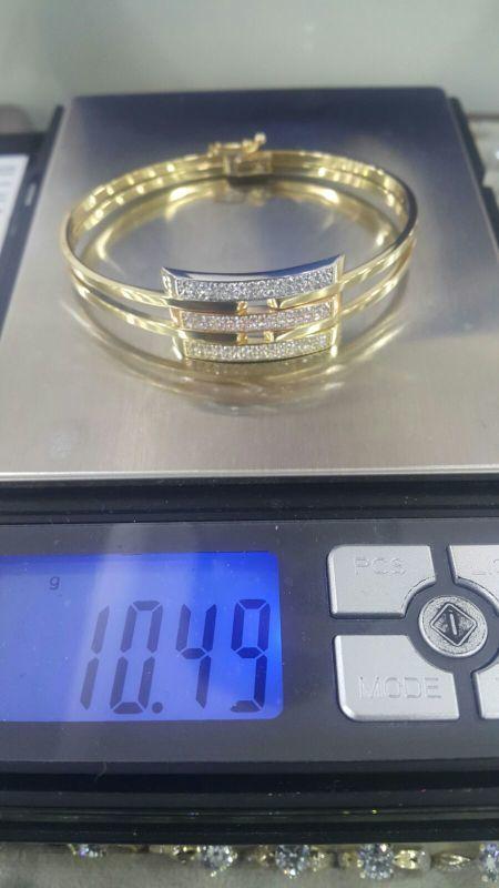 Altın Kaburga Kelepçe 3 Sıra Taşlı KLP-634250