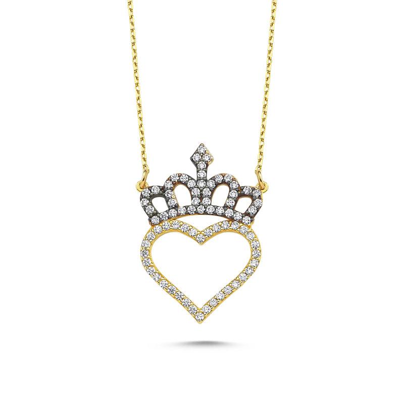 Altın Kalp'li Kolye Başımın Tacı KLB-0396201