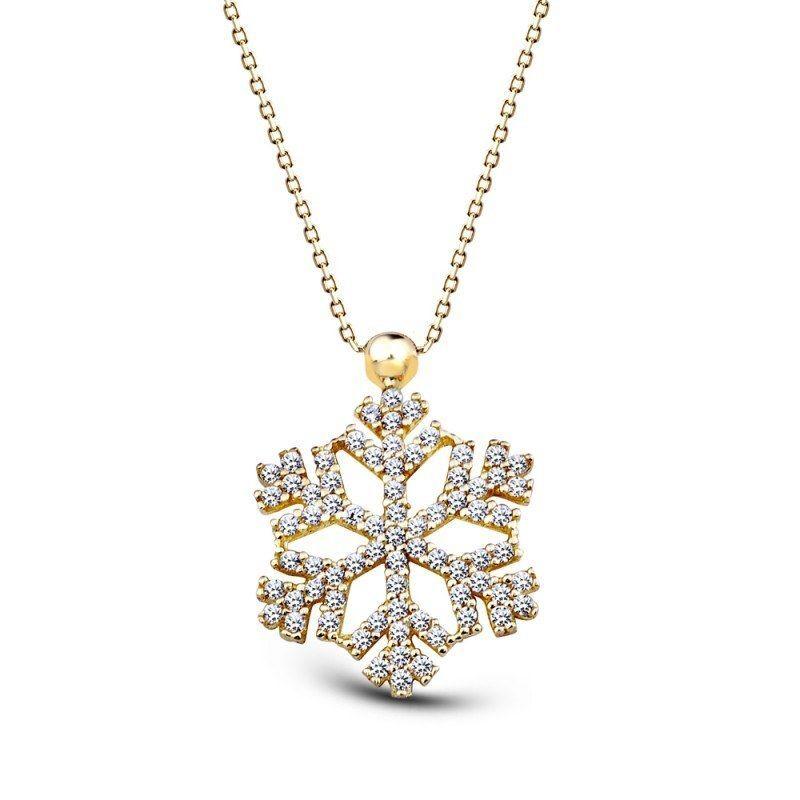 Altın Kar Tanesi Kolye SK42-43600711