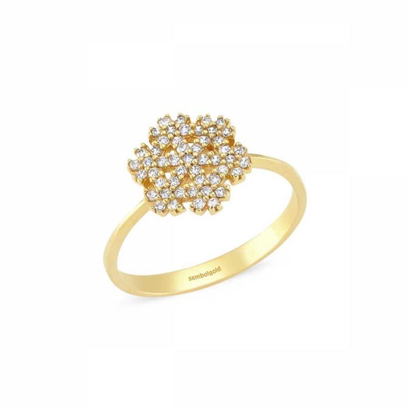 Altın Kartanesi Yüzük 1.80 Gr. SG42-3505