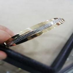 SembolGold - Altın Kelepçe 14K Versage Tasarım 12 mm 3 Burgu