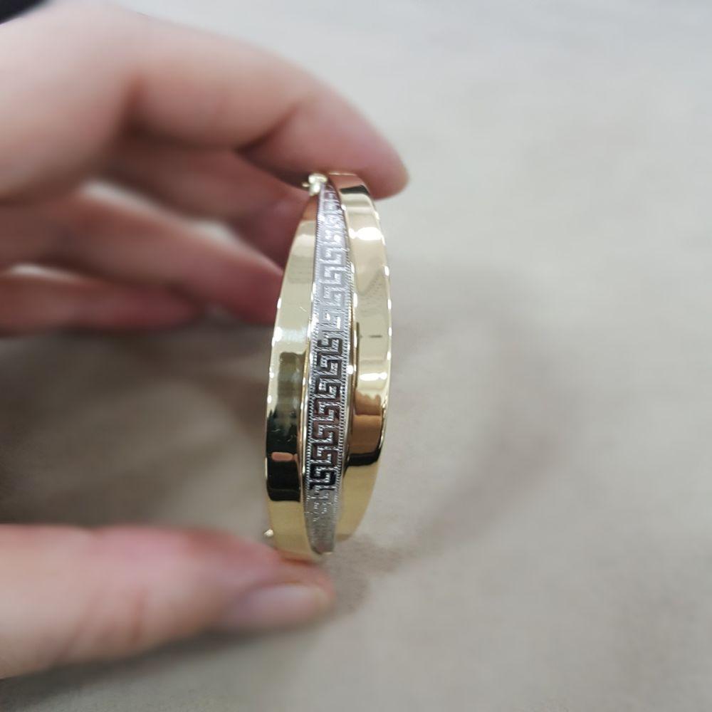 Altın Kelepçe 14K Versage Tasarım 12 mm 3 Burgu