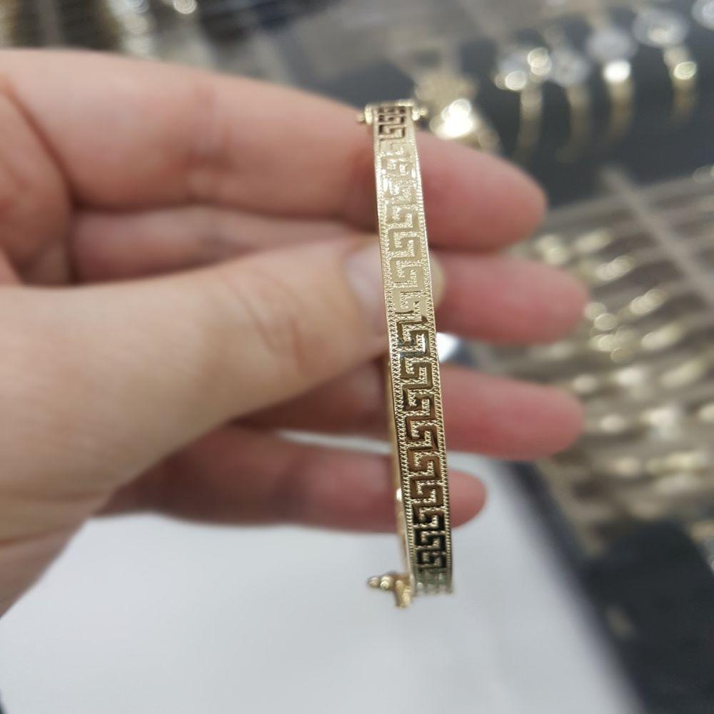 Altın Kelepçe 14K Versage Tasarım 3,5 mm