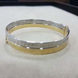 SembolGold - Altın Kelepçe 14K Versage Tasarım 5,5 mm