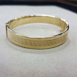 SembolGold - Altın Kelepçe 14K Versage Tasarım 8 mm