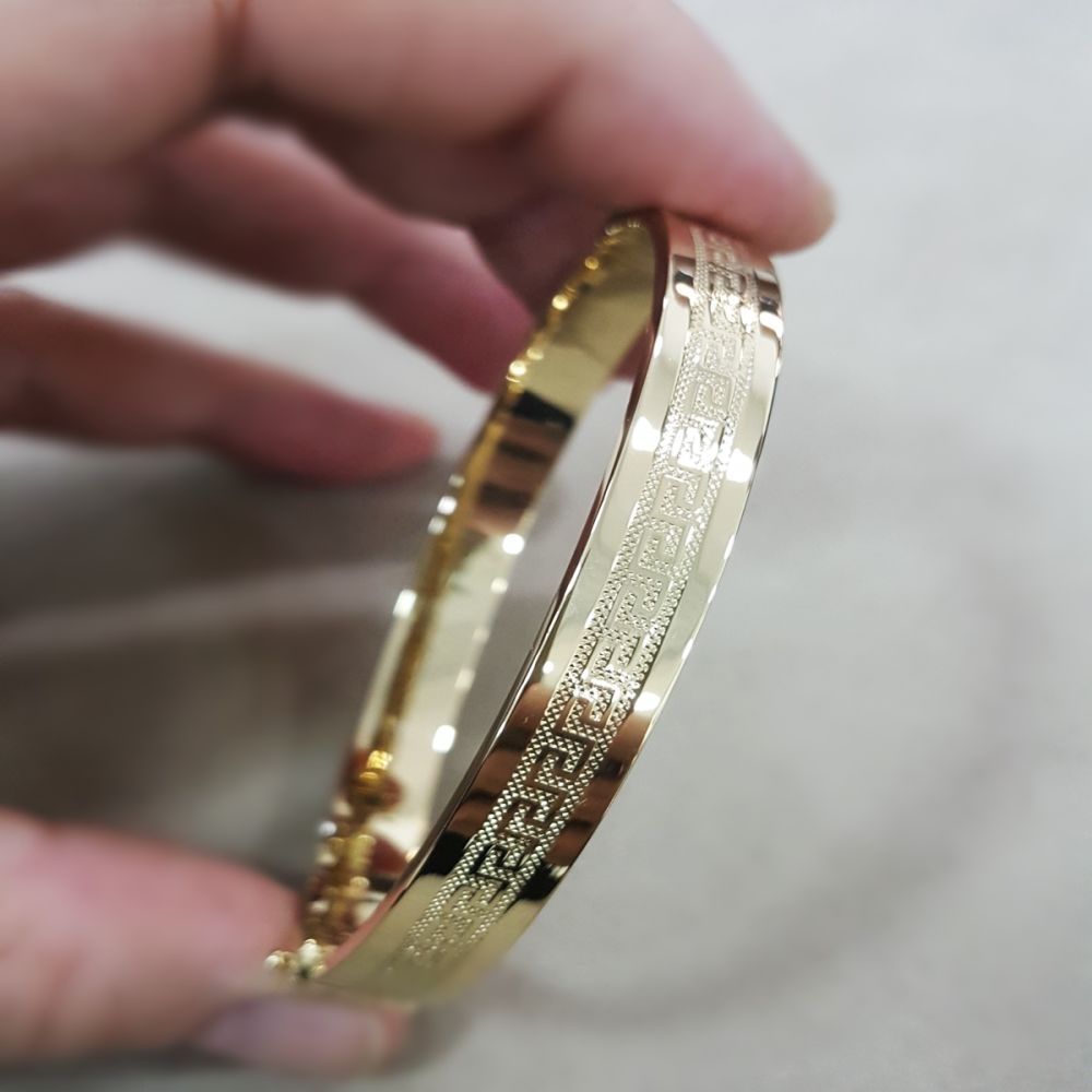 Altın Kelepçe 14K Versage Tasarım 8 mm