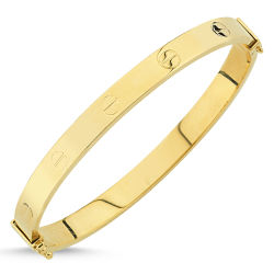 SembolGold - Altın Kelepçe Özel Tasarım 5mm KLDV42-1407