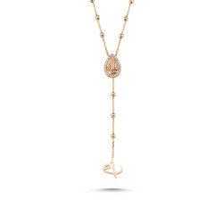 SembolGold - Altın Kolye 14K Rose Dorika Zincirli Özel Tasarım