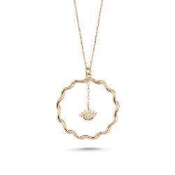 SembolGold - Altın Kolye Özel Tasarım Rose Altın OZL-55131