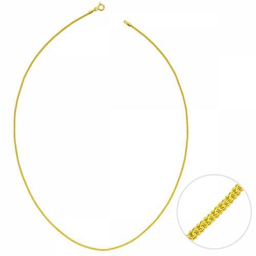 SembolGold - 50 Cm Altın Kuş Kafesi Zincir