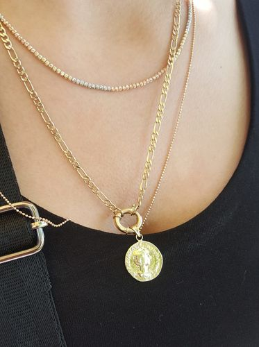 SembolGold - Altın Madalyon Kolye Yeni Model (1)
