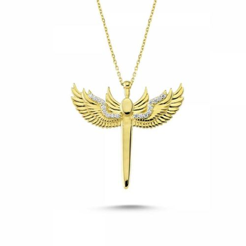 SembolGold - Altın Melek Kolye SK42-7430104