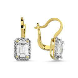 Altın Mini Set Baget Taşlı 3lü Takım (zincir dahil) SG-4258-BG - Thumbnail