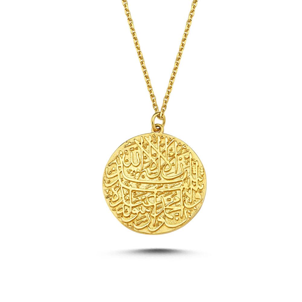 Altın Mühür Kolye ( Çift Taraflı ) MH42-5824