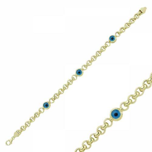 SembolGold - Altın Nazar Boncuklu Bileklik SG42-57518