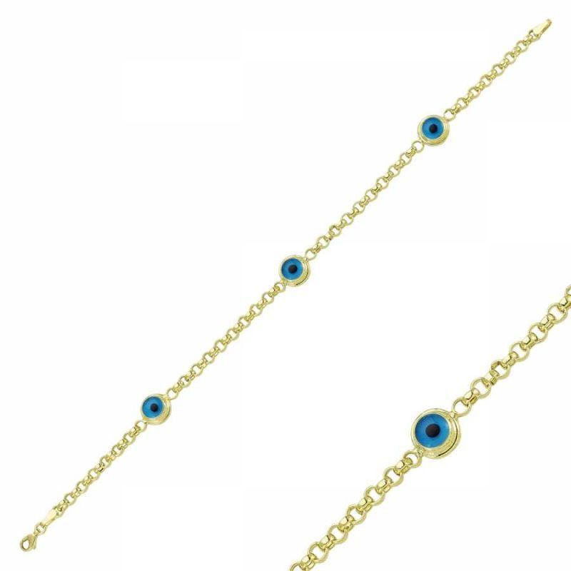 Altın Nazar Boncuklu Doç Bileklik SG42-57517