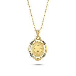 SembolGold - Altın Papatya Kolye Sarı Altın Mineli SG54054505