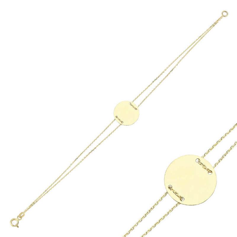Altın Plaka Bileklik İsim Yazılır SNS-0569