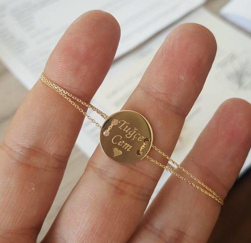SembolGold - Altın Plaka Bileklik İsim Yazılır (1)