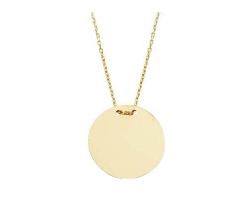 SembolGold - Altın Plaka Kolye SG42-524184