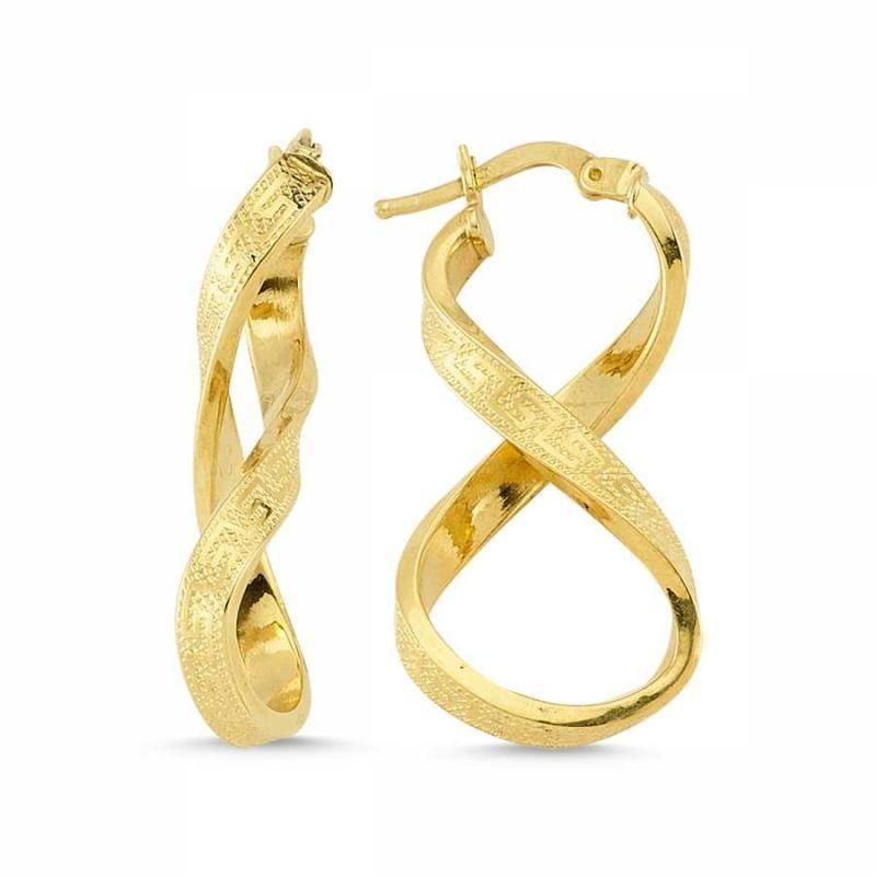 Altın Sonsuzluk Küpesi İtaly