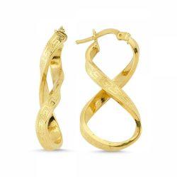 SembolGold - Altın Sonsuzluk Küpesi İtaly