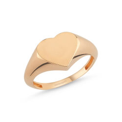 Altın Şovalye Yüzük Rose Kalp'li MD-44910 - Thumbnail