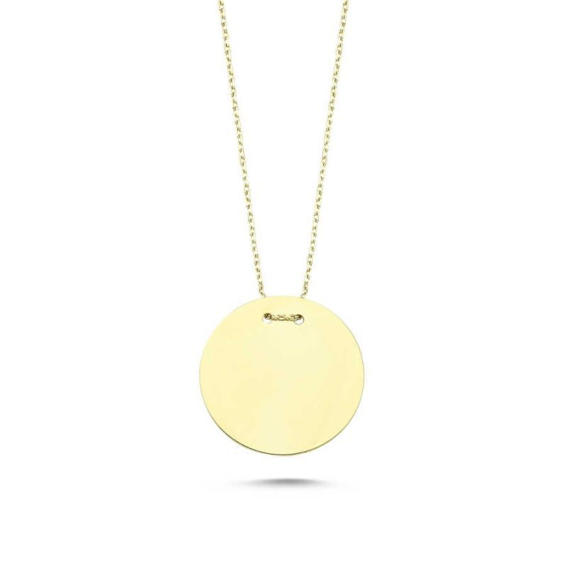 Altın Taşsız Plaka Kolye KLB-0332