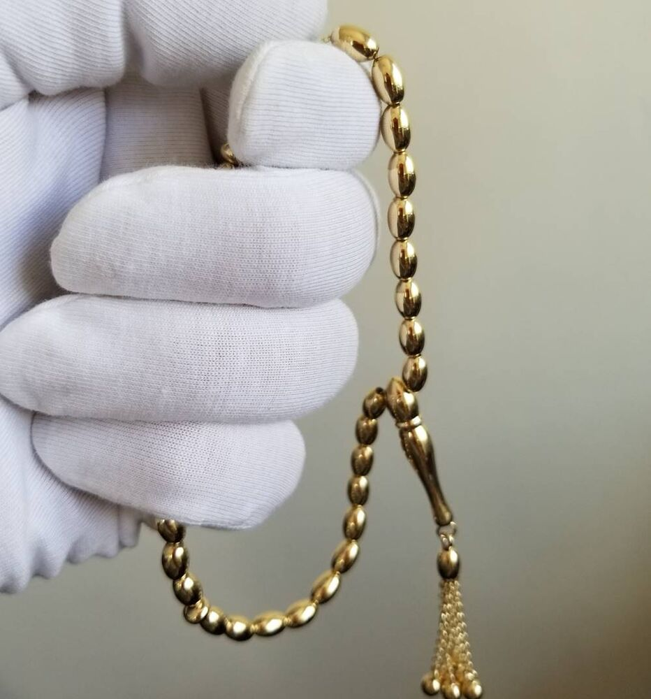 Altın Tesbih Classic Oval