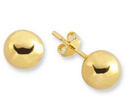 SembolGold - Altın Top Çocuk Küpe SG42-53