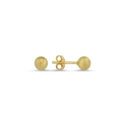 SembolGold - Altın Top Küpe Simli 14K Gold 5,0 mm 0,85 Gram