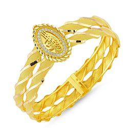 Altın Tuğralı Kelepçe Oval Jessica - Thumbnail
