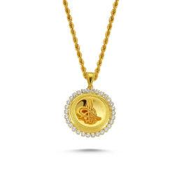 SembolGold - Altın Tuğralı Kolye SG42-T99768