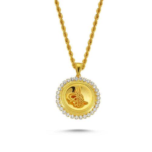 SembolGold - Tuğralı Altın Kolye