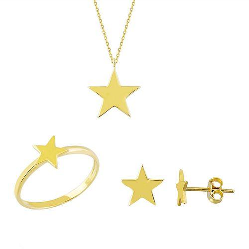 SembolGold - Altın Yıldız 3'lü Takı Seti 14K Gold