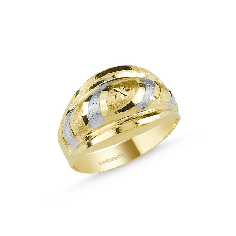 Altın Yüzük 14 Ayar Fantazi Modeli SG42-018328