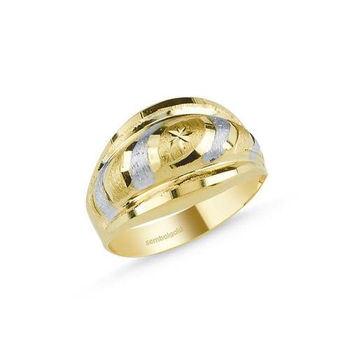 SembolGold - Altın Yüzük 14 Ayar Fantazi Modeli SG42-018328