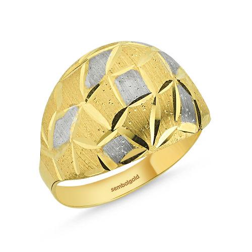 SembolGold - Altın Yüzük Taşsız 14 Ayar Fantazi Modeli