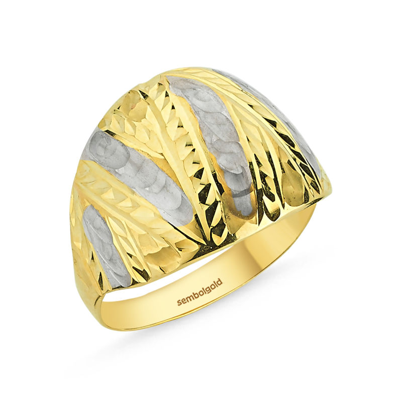 Altın Yüzük Taşsız 14 Ayar Fantazi Modeli