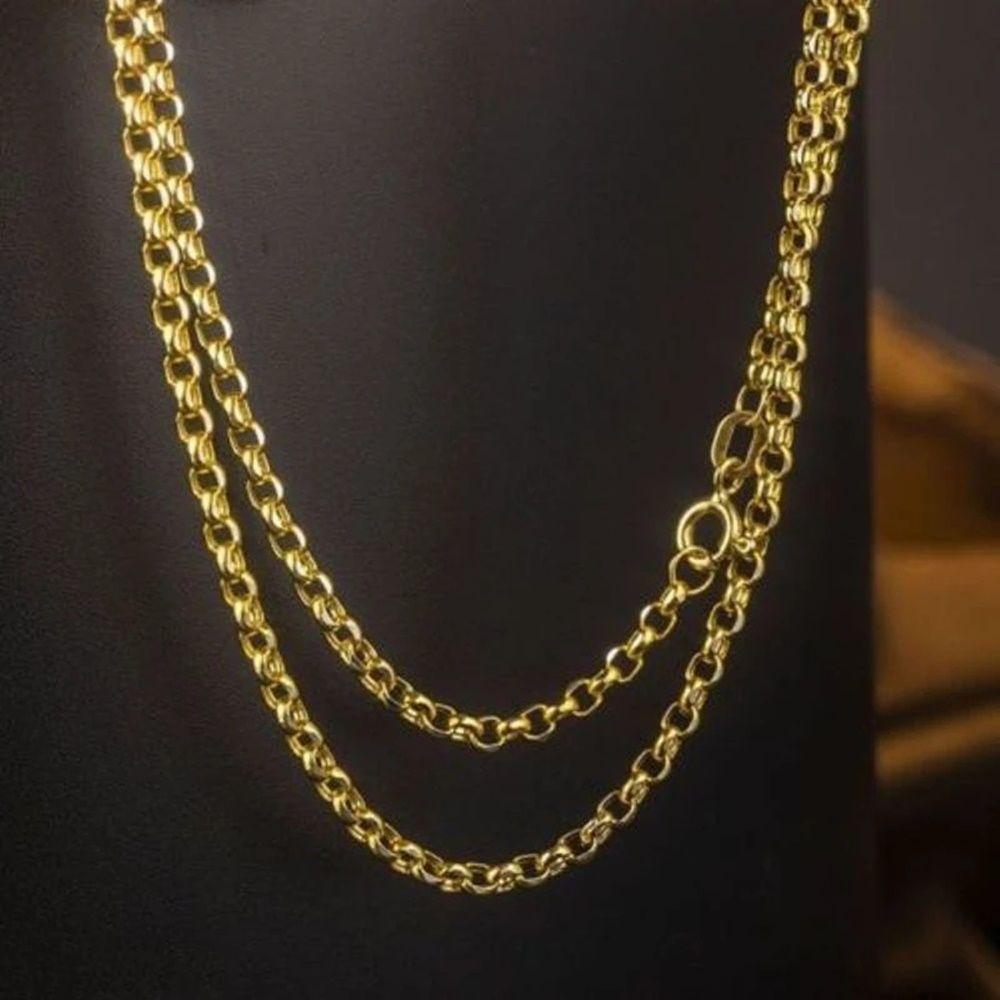 Altın Zincir Aynalı Doç Zincir 50 cm 4,0 mm