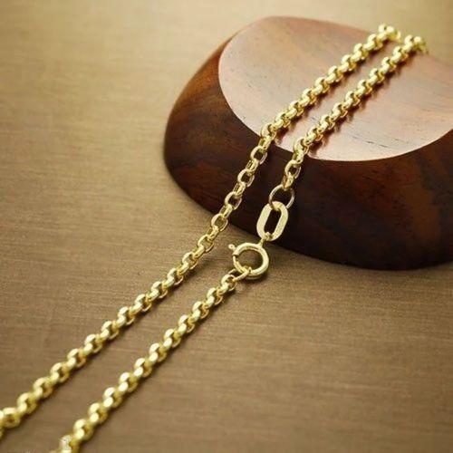 SembolGold - Altın Zincir Aynalı Doç Zincir 50 cm (1)