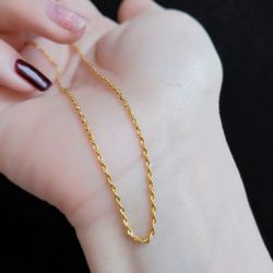 SembolGold - Altın Zincir Halat Yaldızlı 55 cm 14 Ayar 3.0 mm (1)