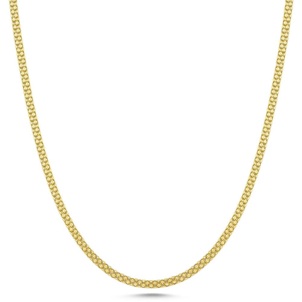 Altın Zincir Saç Örgüsü 60 cm ZNC42-G513