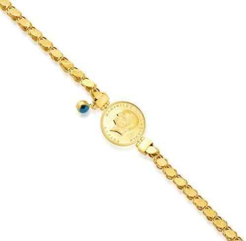 SembolGold - Ata Yarımlı Gözlü Altın Bileklik Pullu Zincir (1)