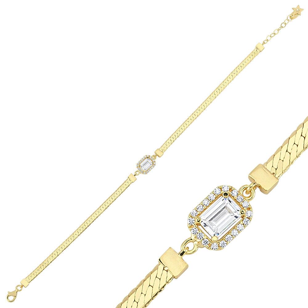 Baget Altın Bileklik Ezme Zincir 18-22 cm