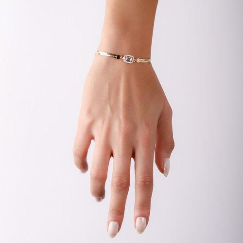 SembolGold - Baget Altın Bileklik Ezme Zincir 18-22 cm (1)
