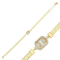 Baget Altın Bileklik Ezme Zincir 18-22 cm - Thumbnail